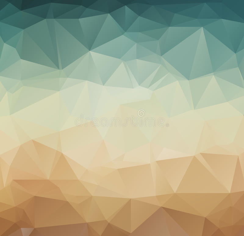 Abstrakcjonistyczny geometryczny deseniowy retro tło ilustracji