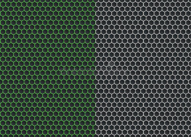 Abstrakcjonistyczny geometryczny graficzny bezszwowy sześciokąta wzoru tło ilustracji