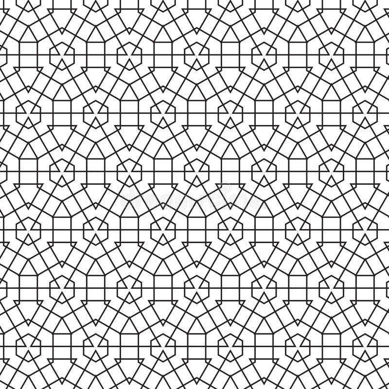 Abstrakcjonistyczny Geometryczny Heksagonalny trójbok Wykłada Wektorową Bezszwową Deseniową tło ilustrację ilustracji