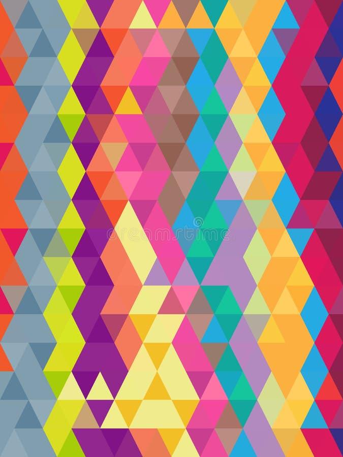 Abstrakcjonistyczny geometryczny kolorowy tło w trójbok teksturze ilustracji