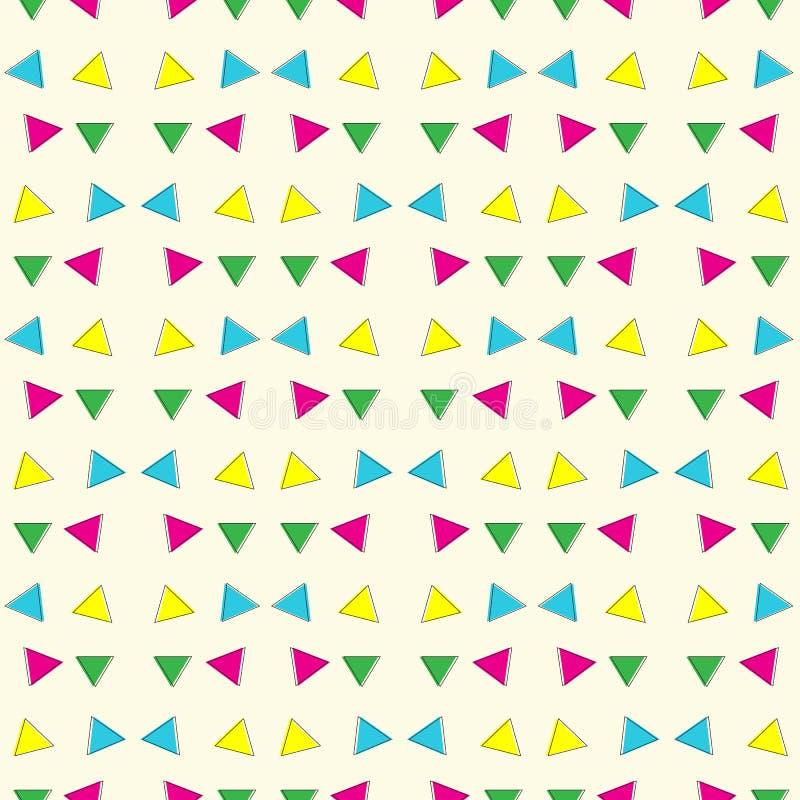 Abstrakcjonistyczny geometryczny kolorowy trójboka wzoru tło ilustracja wektor