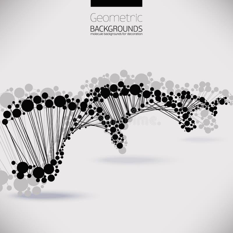 Abstrakcjonistyczny geometryczny kratownicy DNA ilustracja wektor