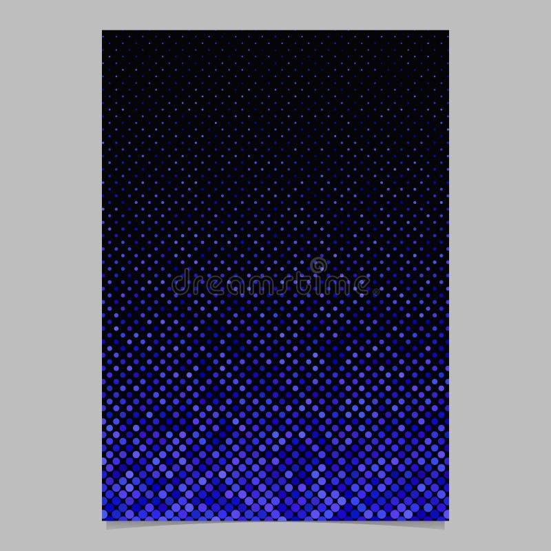 Abstrakcjonistyczny geometryczny kropka wzoru tła ulotki szablon - graficzny projekt ilustracja wektor