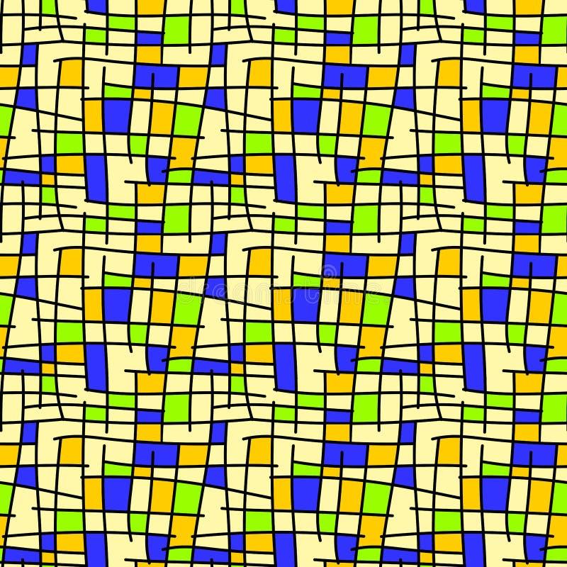 Abstrakcjonistyczny geometryczny kwadrata tło bezszwowy royalty ilustracja