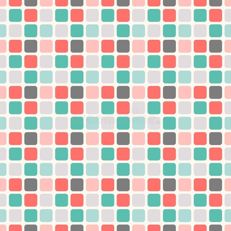 Abstrakcjonistyczny geometryczny kwadratowy bezszwowy wzór royalty ilustracja