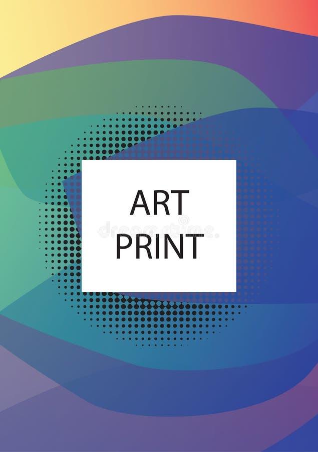 Abstrakcjonistyczny geometryczny linia wzoru tło dla biznesowego broszurki pokrywy projekta Błękita, koloru żółtego, czerwieni, p ilustracji