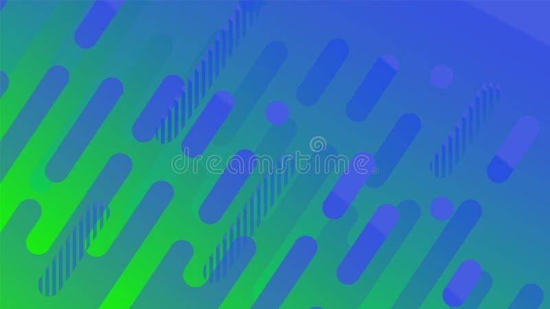 Abstrakcjonistyczny geometryczny linia wzoru tło dla biznesowego broszurki pokrywy projekta kolor żółty, greeen, wektorowy sztand ilustracja wektor