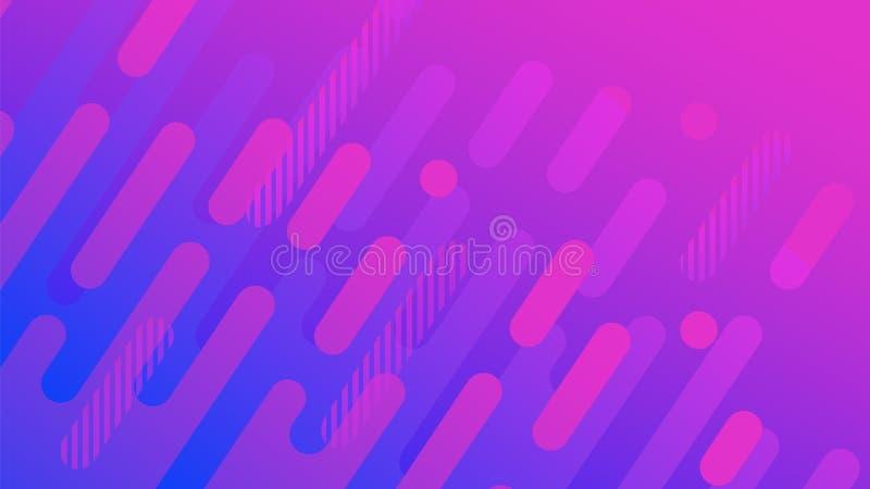 Abstrakcjonistyczny geometryczny linia wzoru tło dla biznesowego broszurki pokrywy projekta pozafioletowy wektorowy sztandaru pla ilustracji