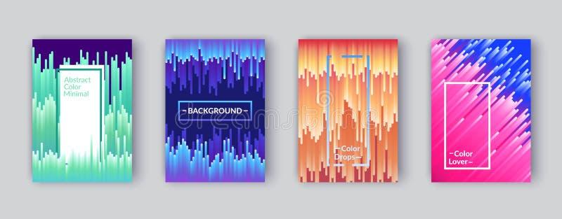 Abstrakcjonistyczny geometryczny linia wzoru tło dla okładkowego projekta Minimalni geometryczni kolorowi deseniowi gradienty prz ilustracja wektor
