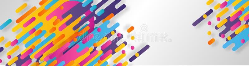 Abstrakcjonistyczny geometryczny linia wzoru t?o dla biznesowego broszurki pokrywy projekta kolor ? ilustracji