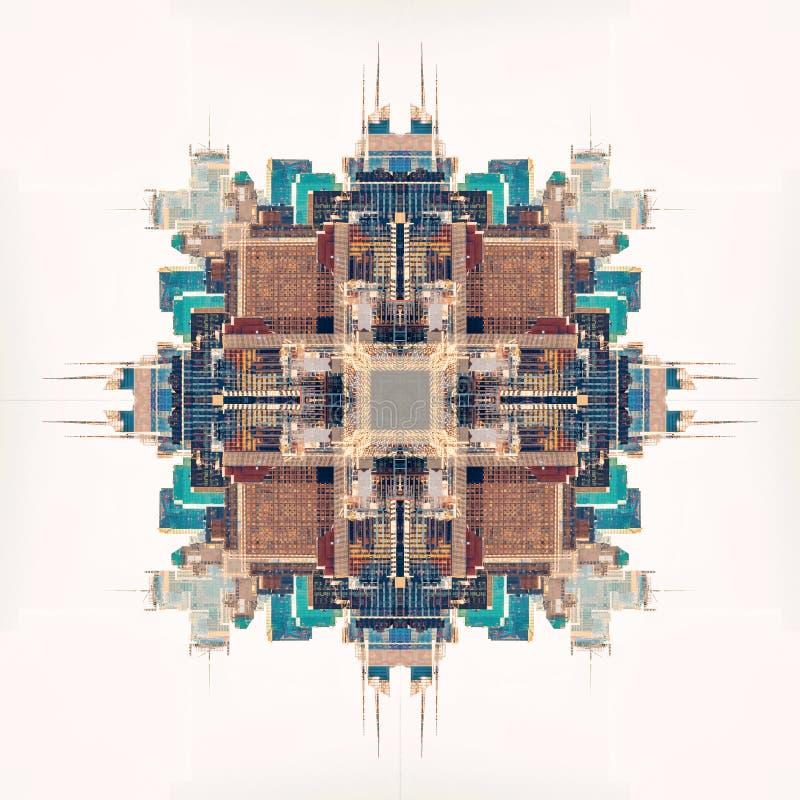 Abstrakcjonistyczny geometryczny symetryczny fractal wzór obrazy royalty free