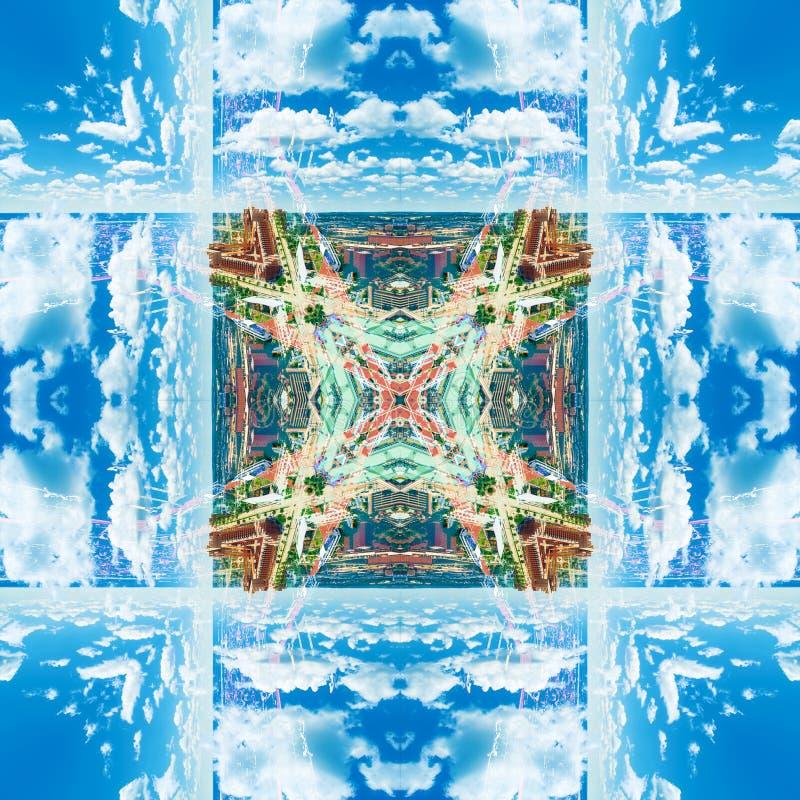 Abstrakcjonistyczny geometryczny symetryczny fractal wzór obrazy stock