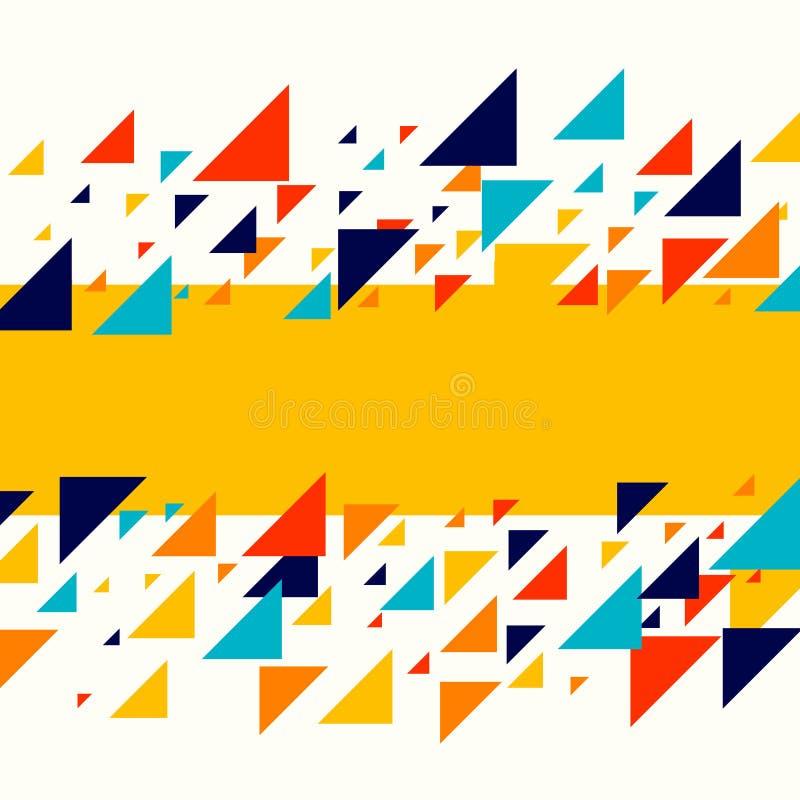 Abstrakcjonistyczny geometryczny tło - multicolor przypadkowy różny trójbok mozaiki wzór ilustracji