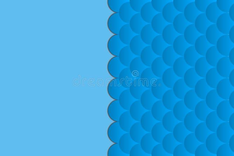 Abstrakcjonistyczny geometryczny tło na morskim temacie fale błękit deseniowa lub płaska tekstura Z przestrzenią dla teksta ilustracja wektor