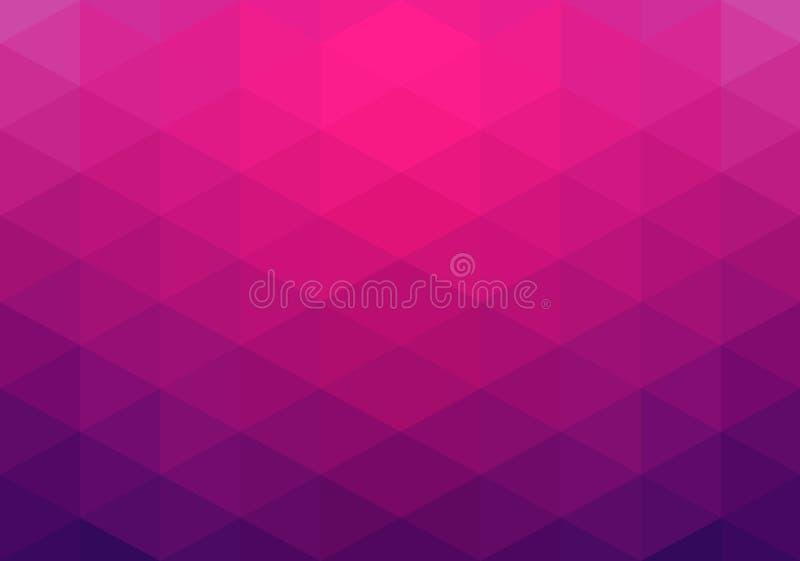 Abstrakcjonistyczny geometryczny tło, różowi trójboki ilustracja wektor
