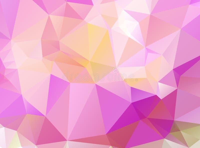 Abstrakcjonistyczny geometryczny tło trójgraniaści wieloboki ilustracja wektor
