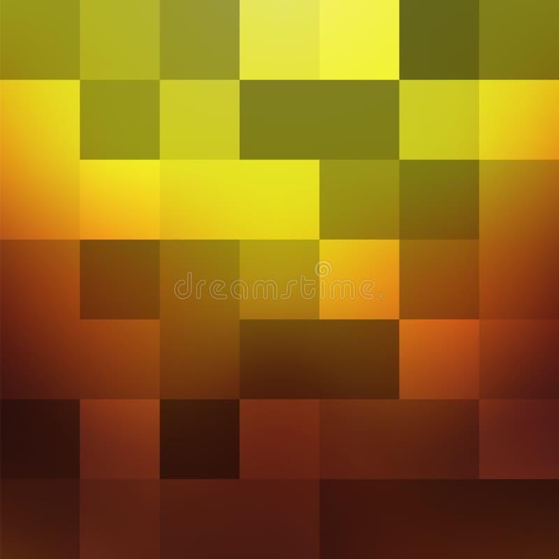 Abstrakcjonistyczny geometryczny tło w ciepłych brzmieniach ilustracja wektor