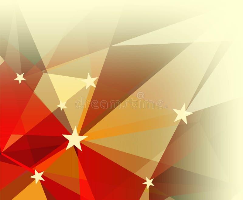 Abstrakcjonistyczny geometryczny tło z gwiazdami ilustracji