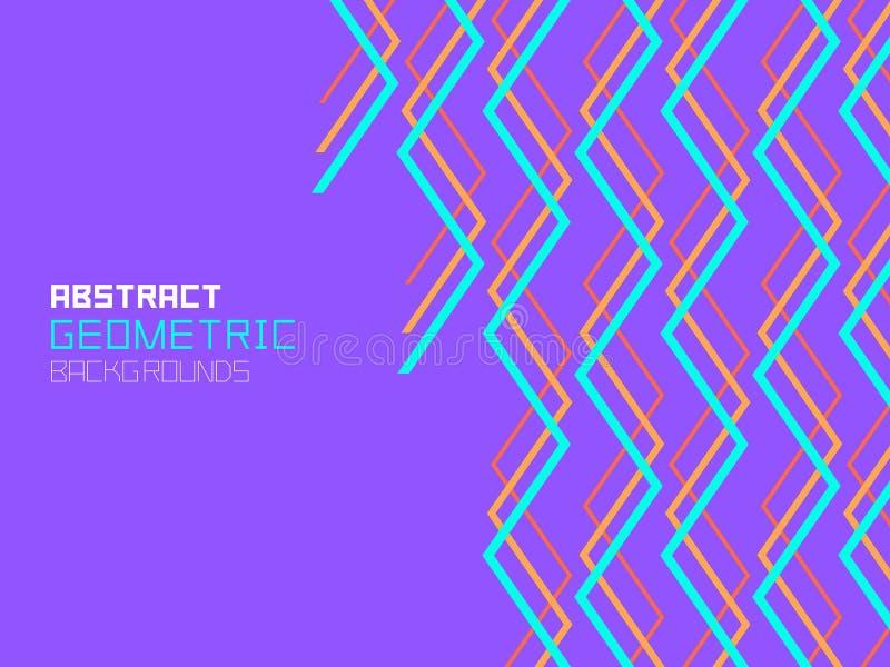 Abstrakcjonistyczny geometryczny tło z liniami ilustracji