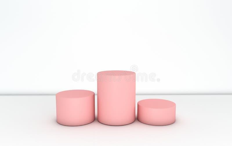 Abstrakcjonistyczny geometryczny tło z praformą kształtuje butlę po ilustracja wektor