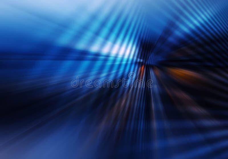 Abstrakcjonistyczny geometryczny tło z skrzyżowaniem wykładającym hebluje naśladowanie tunel ilustracja wektor