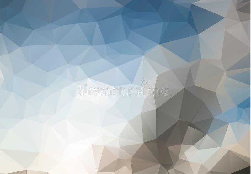 Abstrakcjonistyczny geometryczny tło z wielobokami Ewidencyjny grafika skład z geometrycznymi kształtami Retro etykietka projekt ilustracja wektor