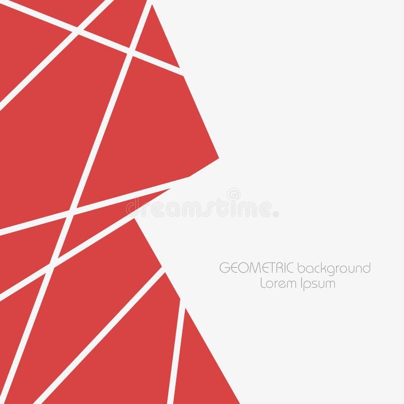 Abstrakcjonistyczny geometryczny tło z wielobokami i trójbokami ilustracji