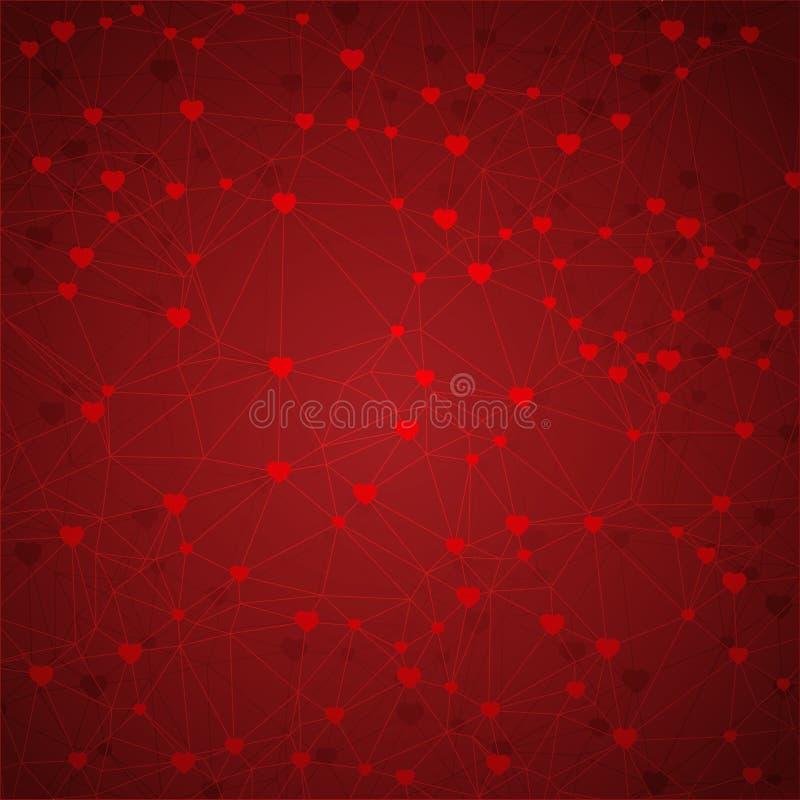 Download Abstrakcjonistyczny Geometryczny Tło Linie I Serca Ilustracja Wektor - Ilustracja złożonej z heart, pokrywa: 57656738