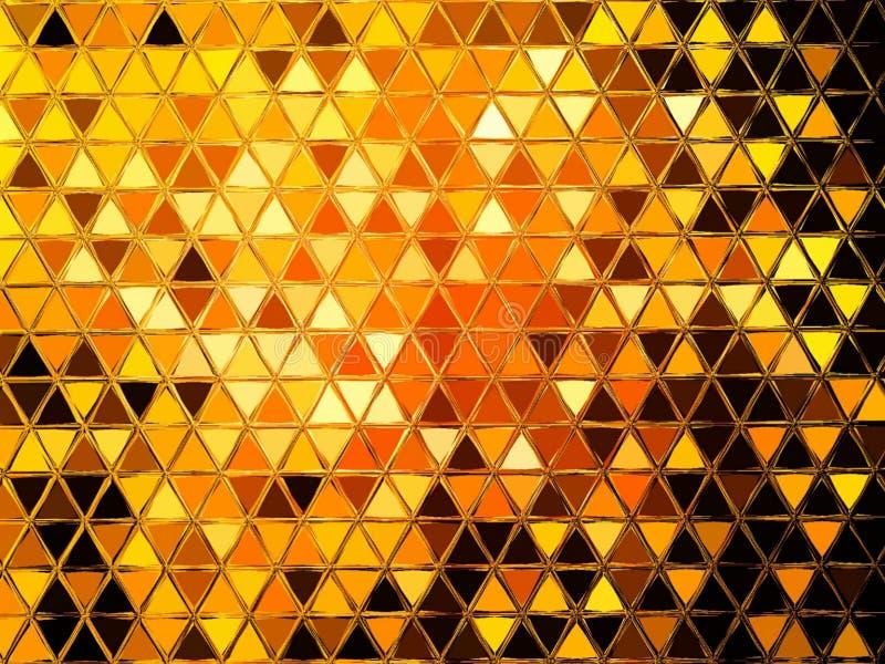 Abstrakcjonistyczny Geometryczny trójbok Odzwierciedlający wzór ilustracji
