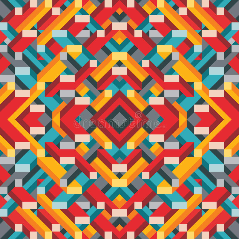Abstrakcjonistyczny geometryczny wektorowy tło dla prezentaci, broszury, strony internetowej i innego projekta projekta, Mozaika  ilustracja wektor