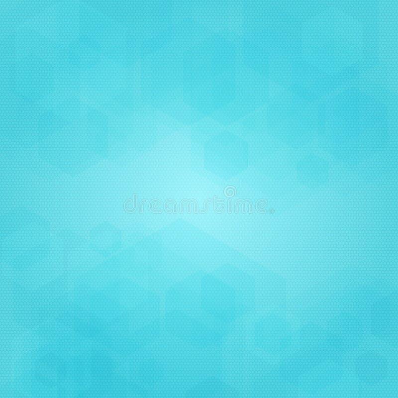 Abstrakcjonistyczny geometryczny wektorowy tło w błękitnych kolorach ilustracji