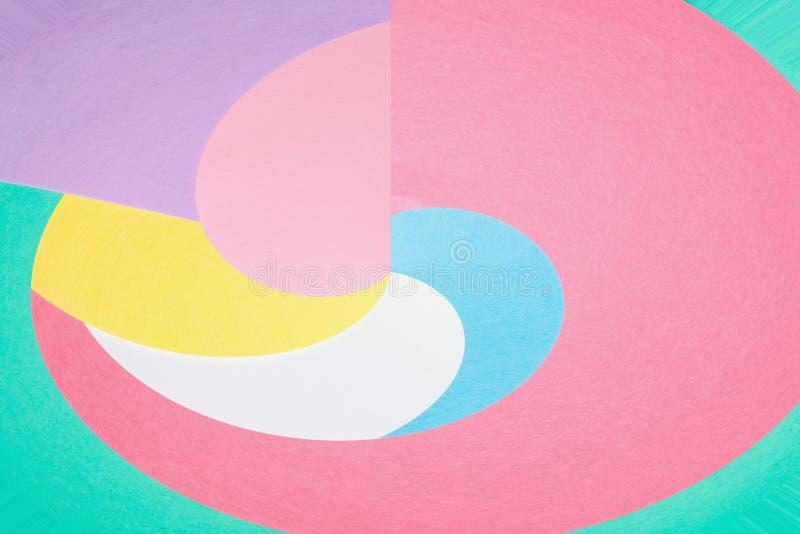 Abstrakcjonistyczny geometryczny wygina się kształta tło zdjęcia royalty free