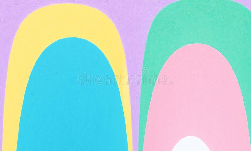 Abstrakcjonistyczny geometryczny wyginający się kształta tło obrazy royalty free