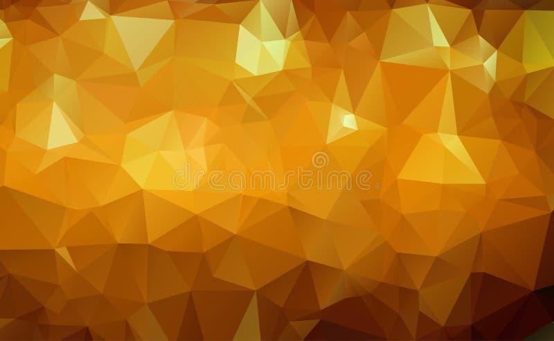 Abstrakcjonistyczny Geometryczny złoto i Biały Abstrakcjonistyczny Wektorowy tło dla Use w projekcie Nowożytna wielobok tekstura royalty ilustracja
