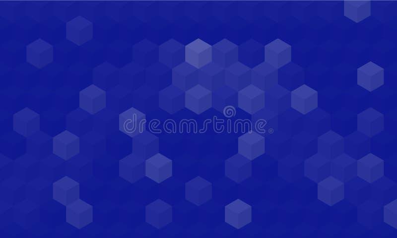 Abstrakcjonistyczny Geometryczny Z Błękitnym tłem royalty ilustracja