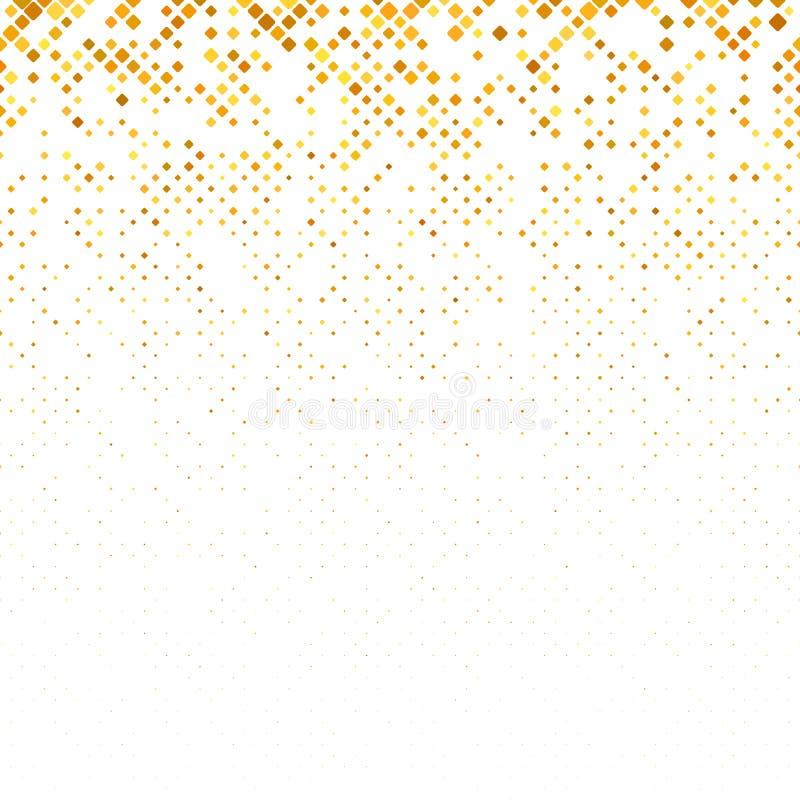 Abstrakcjonistyczny geometryczny zaokrąglony kwadrata wzoru tło z kwadratami w urozmaiconych rozmiarach ilustracja wektor