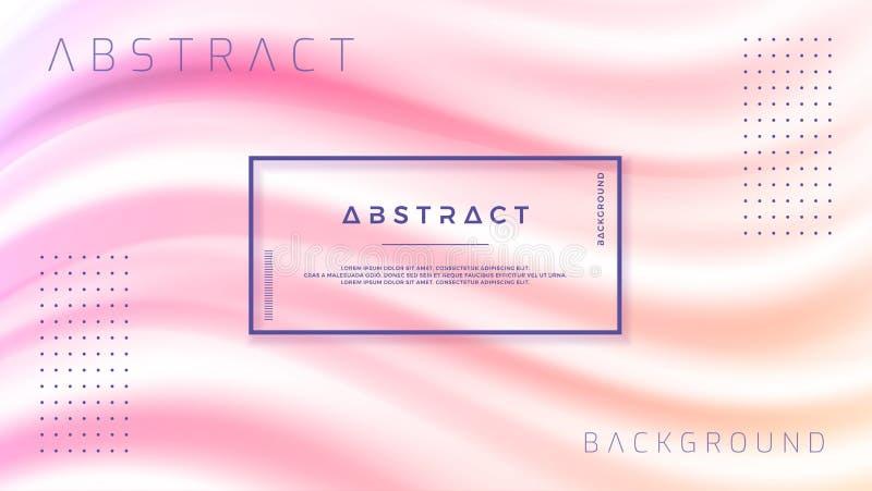 Abstrakcjonistyczny gradient fala tło Dynamiczny tło koloru przepływ EPS10 wektorowa ilustracja ilustracja wektor