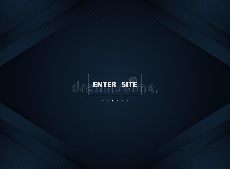 Abstrakcjonistyczny gradientowy błękitny luksusowy tło z ciemnym okrąg dekoracji halfrome Ilustracyjny wektor eps10 ilustracja wektor
