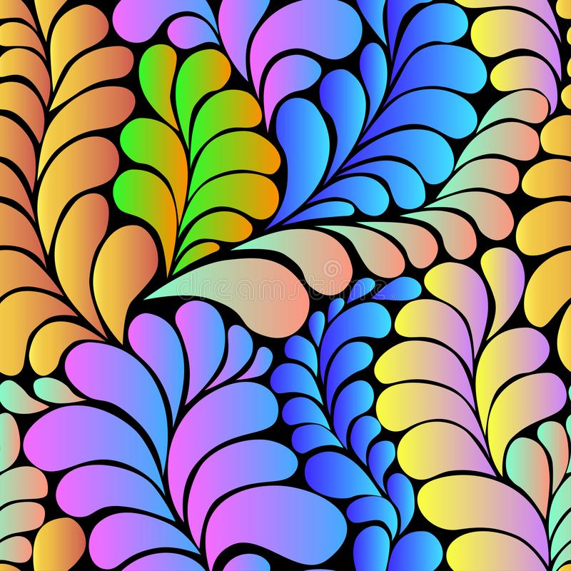 Abstrakcjonistyczny gradientowy hipisa 60s wektoru bezszwowy wzór ilustracja wektor