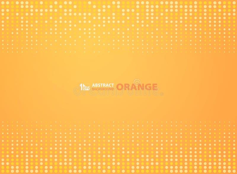 Abstrakcjonistyczny gradientowy pomarańczowy kolor z okręgu projekta halftone tłem Ilustracyjny wektor eps10 ilustracji