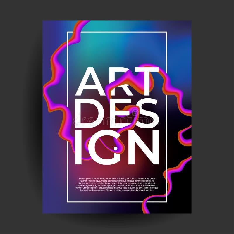 abstrakcjonistyczny gradientowy rzadkop?ynny plakat pokrywy zmroku t?o ilustracja wektor