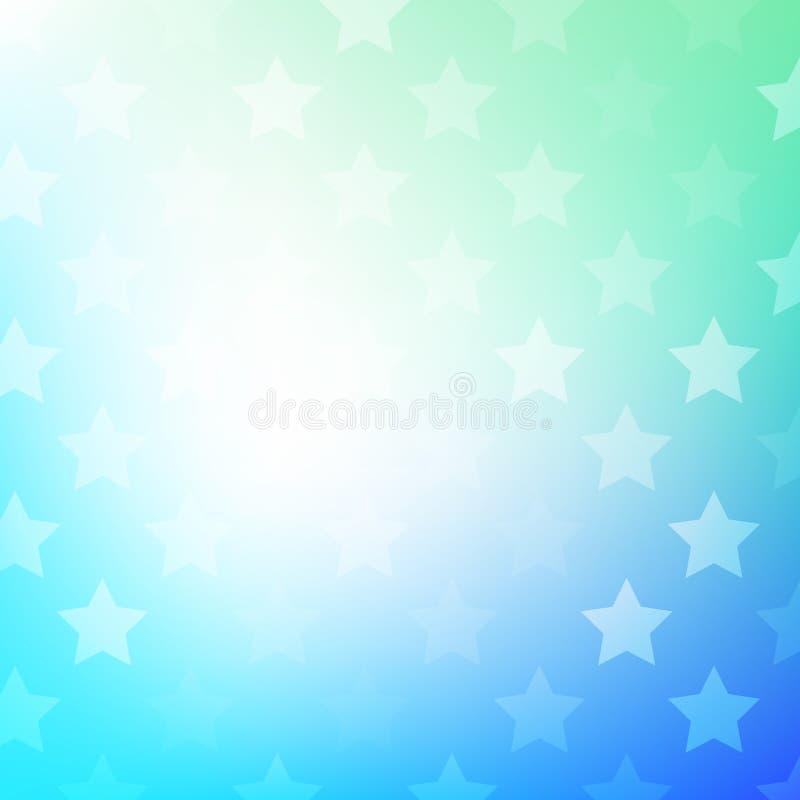 Abstrakcjonistyczny gradientowy tło z gwiazdami ilustracja wektor