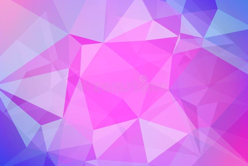 Abstrakcjonistyczny gradientowy trójboka tło ilustracji