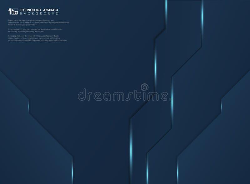 Abstrakcjonistyczny gradientowy zmrok - błękitny technologia szablonu tło Ilustracyjny wektor eps10 ilustracja wektor