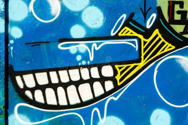 Abstrakcjonistyczny graffiti tło zdjęcia stock