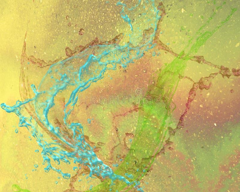 Abstrakcjonistyczny graficzny projekt z tęczą barwił tło royalty ilustracja