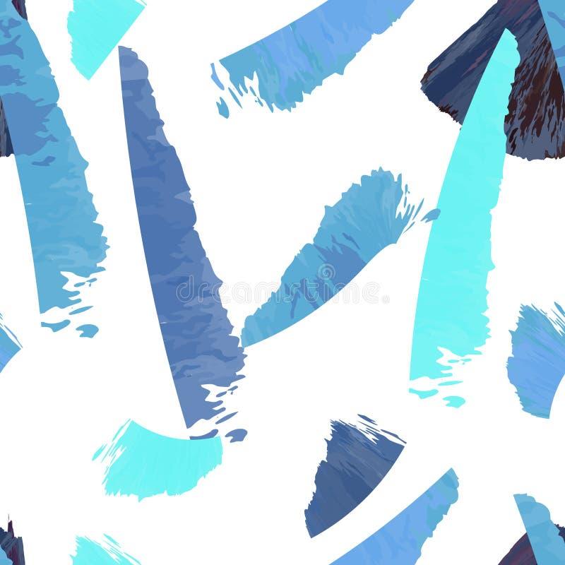 Abstrakcjonistyczny grunge atrament muska wektor bezszwowego royalty ilustracja