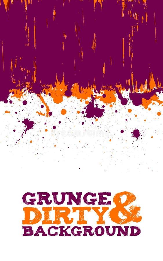 Abstrakcjonistyczny grunge atramentu splats tło ilustracja wektor