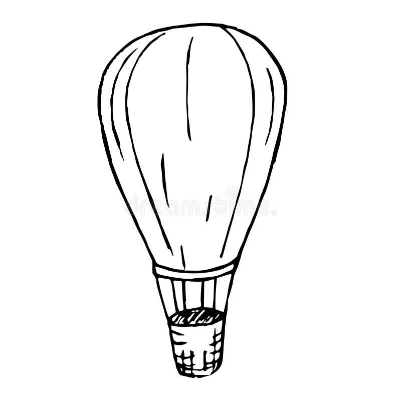 Abstrakcjonistyczny grunge doodle rysunek Wektorowy rysunek duży balon royalty ilustracja