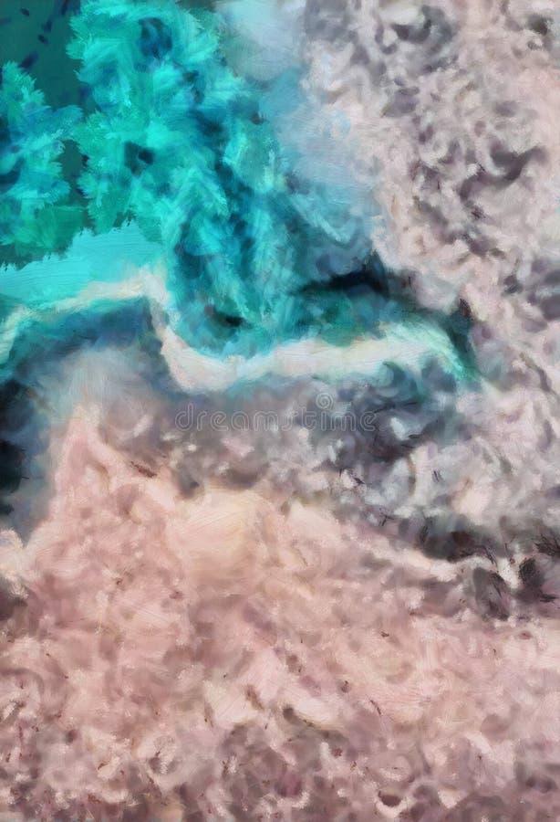 Abstrakcjonistyczny grunge tekstury zbliżenia tło Obrazu olejnego projekta wzór Rocznik farby suchych brushstrokes artystyczna gr ilustracji